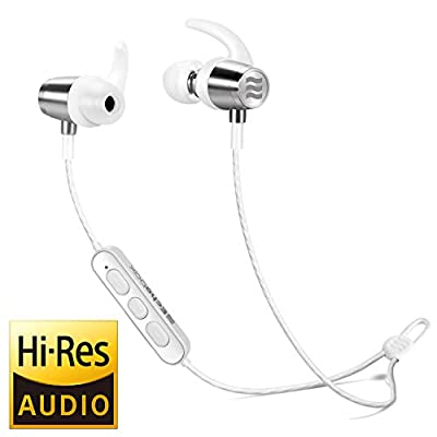 Echobox Wireless in-Ear Earphones Bluetooth Sport Earbuds - Solid Titanium Magnetic Housings, Sweat/Water/Throw Resistant for Running, 8 Hours Playtime, Volume Control w/Mic