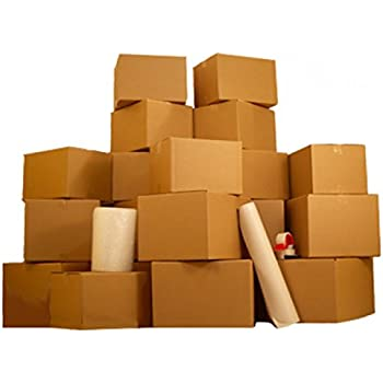 One BedRoom 18 Moving Boxes Basic Smart Moving Kit: Boxes, Packing Supplies, & SmartMove Tape!