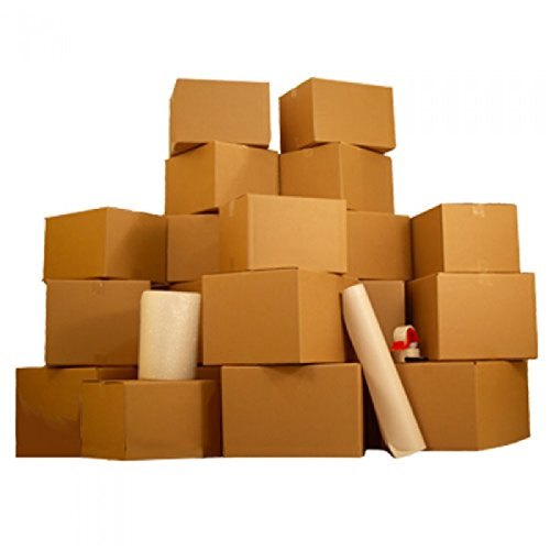 One BedRoom 18 Moving Boxes Basic Moving Kit: Boxes, Packing Supplies, Tape.