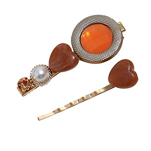 - Toaimy 2pcs Sweet Pearl Acrylic Matte Hair Clips for Women Girls,Romantic Multi-Style Hairpin Jewelry Headwear Accessories