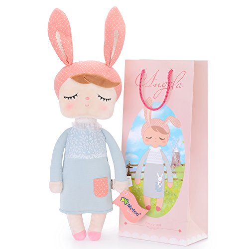 "Me Too Angela Stuffed Bunny Super Soft Plush Rabbit Doll Baby Toys Gifts for Girls 12"" New Design"