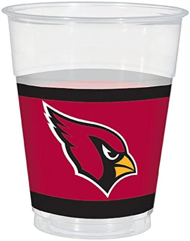 Amscan Sports Party Favor Arizona Cardinals Collection Plastic Party Cups Multicolor 4223241
