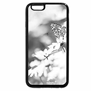 iPhone 6S Case, iPhone 6 Case (Black & White) - Butterfly