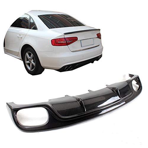 MCARCAR KIT For 2013-2016 Audi A4 B9 Sedan Non-Sline Non-S4 Car Tuning Carbon Fiber Rear Bumper Lip Diffuser