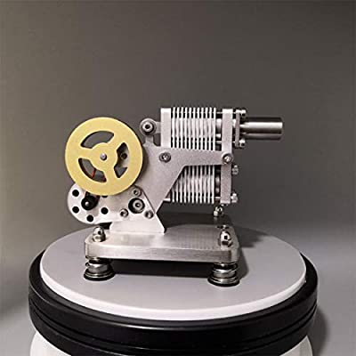 Yamix Full Metal Stirling Engine Model, Mini Generator Model Steam Science Educational Engine Toy for Adults Kids: Toys & Games