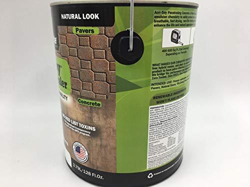 Concrete Sealer & Wood Sealer, Clear Sealant, Paver Sealer, Driveway  Sealer, Wood Deck Sealer - Acri-Soy Penetrating Sealer (1 Gallon)