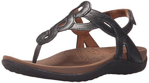 Rockport Cobb Hill  Women's Ramona-CH Flat Sandal,  Pewter, 10 M US ()