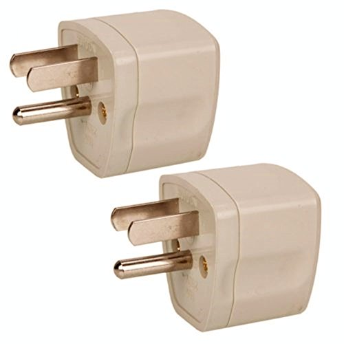 ANRANK U-U76230AK 2 Packs Universal Travel Adapter AU UK EU to US Canada AC Power Plug Adapter Travel Converter White