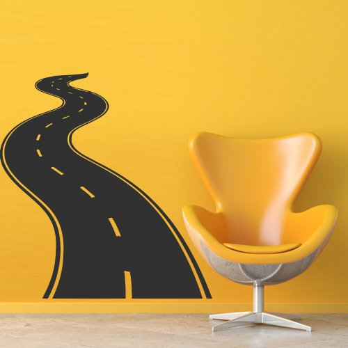 Road Mural (Wall Decal Decor Decals Art Road Track Car Band)