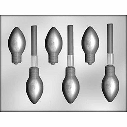 (Chocolate Sucker Mold Plastic 3D Xmas Light 1-1/8 x 1-5/8 x 1/2 inches diy904968)
