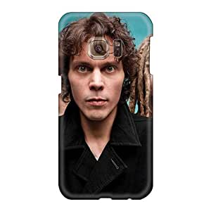 Shock Absorption Hard Phone Cases For Samsung Galaxy S6 (YOj9161HodW) Unique Design Trendy Battlelore Band Image