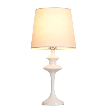 Amazon.com: 2018 nuevo Simple blanco lámpara de mesa LED de ...