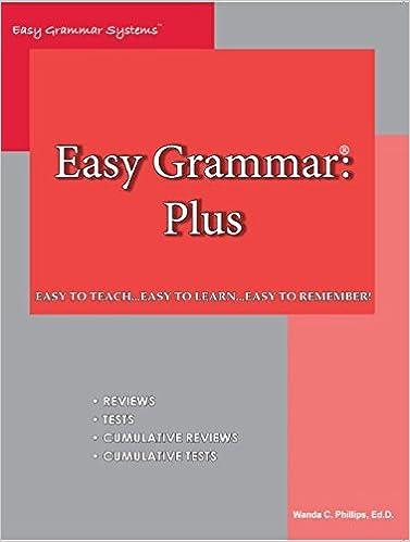 Easy Grammar Plus Revised: Wanda C. Phillips: 9780936981130 ...