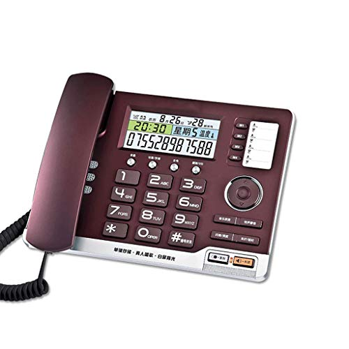 Landline LCSHAN Retro Telephone Personality Simple Office Home Living Room (Color : Purple)