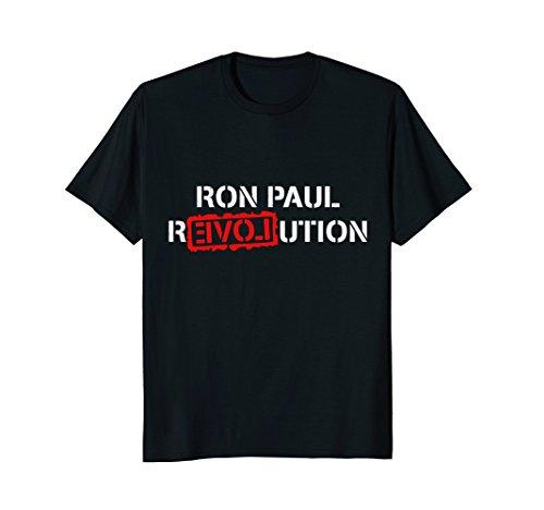Mens Ron Paul Revolution T-Shirt Large Black (Revolution Paul T-shirt Ron)