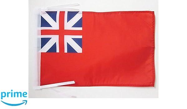 BANDERA del REINO UNIDO ENSEÑA COLONIAL 45x30cm - BANDERINA COLONIAS BRITANICAS 30 x 45 cm cordeles - AZ FLAG: Amazon.es: Deportes y aire libre