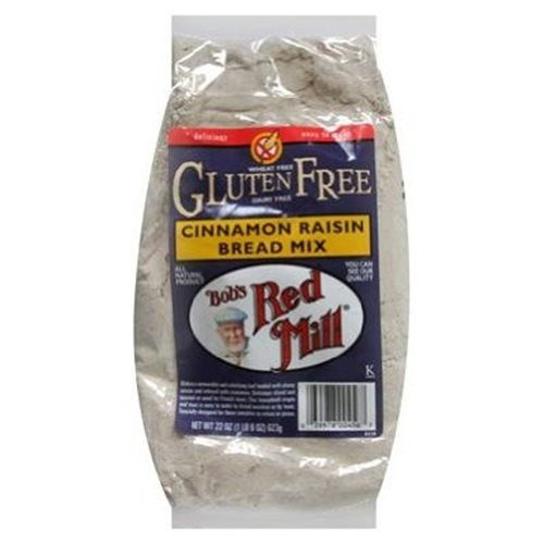 Mix Free Wheat Bread (Bob's Red Mill Bread Mix Cinnamon Raisin Gluten Free, 22-ounces (Pack of4))