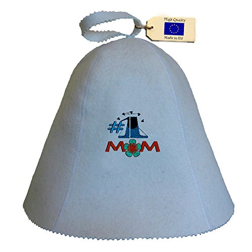 Allforsauna Sauna Hat Russian Banya Cap 100% Wool Felt Modern Lightweight Head Protection for Men and Women | Mom