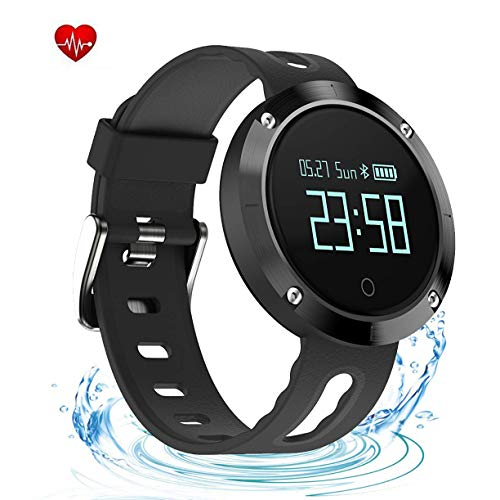 (YHDKS Smart Watch Fitness Tracker,Waterproof Activity Tracker with Heart Rate Monitor,Digital Wrist Watch with Sleep Monitors,Pedometer Stop Watch with Step Calorie Counter for Adult Women Men)