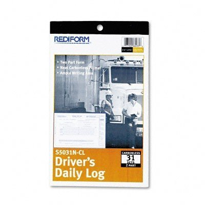 Rediform S5031NCL Driver's Daily Log 5 3/8 x 8 3/4 Carbonless Duplicate 31 Sets/Book
