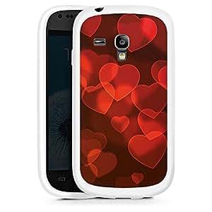 Silicona Carcasa blanco Funda para Samsung Galaxy S3 Mini - Cuori