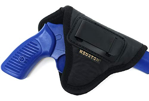 IWB Revolver Holster by Houston - ECO Leather Concealed Carry Soft Material | Suede Interior for Protection | Fits: Any 38 J Frames | S&W Revolvers | Charter Arms | Rossi 38 | Taurus BG LCR (Right)