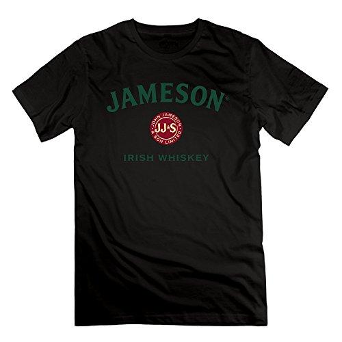 Men's Jameson Irish Whiskey Logo 100% Cotton Tshirts Black (Irish 1780 Jameson Whiskey)