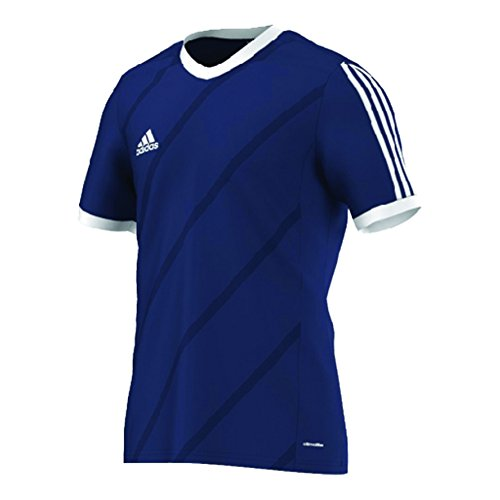 adidas Big Boys Climacool Regista 14 Soccer Jersey Dark Blue-White