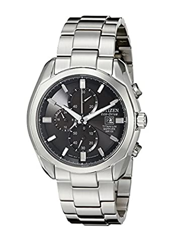 Citizen Men's CA0020-56E Eco-Drive Titanium Watch - Citizen Eco Drive Mens Chronograph