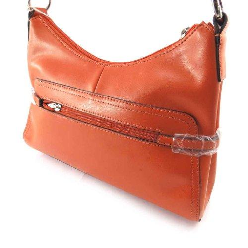 Leather Bag 'vendôme' Orange.