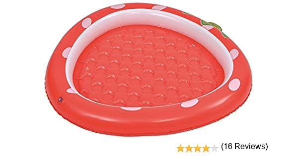 Jilong 57013 Fun Piscina Baby Fresa con Base Hinchable, Rojo ...