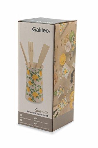 Galileo Casa Sorrento, Empty, Ceramic, White/Yellow, 4Units