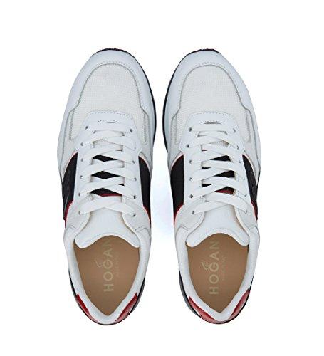 Hogan Sneaker H321 in Leder Weiß und Schwarz Weiß