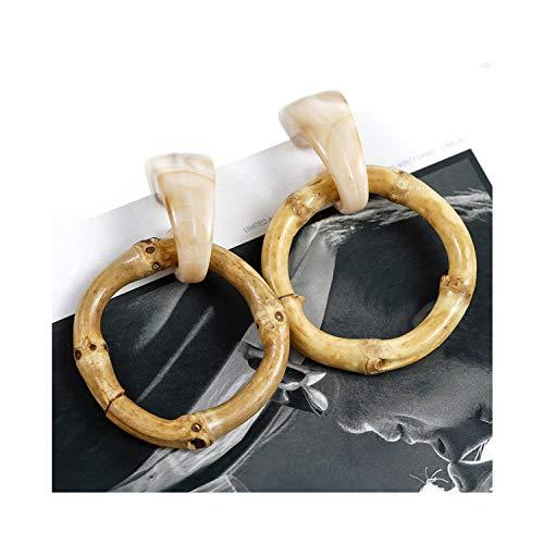 - Multiple Handmade Bamboo Braid Pendent Drop Earrings Rattan Vine Knit Long Earrings For Women Girl,Beige Bamboo