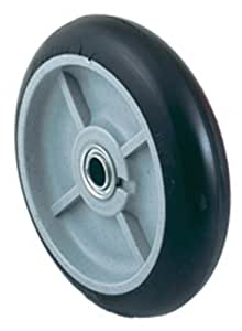 Harper Trucks WH 55P Mold-On Rubber 8-Inch by 2-1/4-Inch Ball Bearing Poly Hub Hand Truck Tire