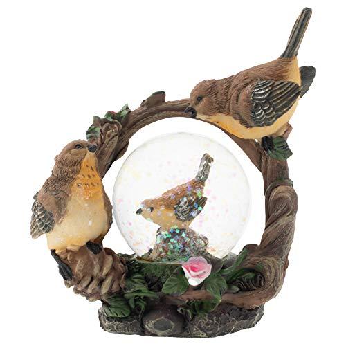 - Elanze Designs Yellow Sparrow Bird Family Figurine 45MM Glitter Water Globe Decoration