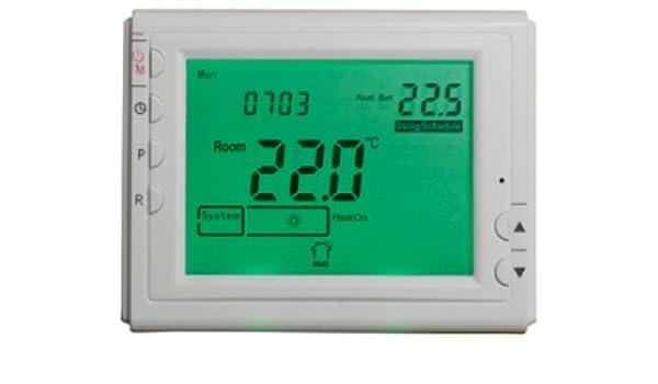 Termostato digital para la regulación de encendido los radiadores y la temperatura de ejercicio cronotermostato: Amazon.es: Hogar