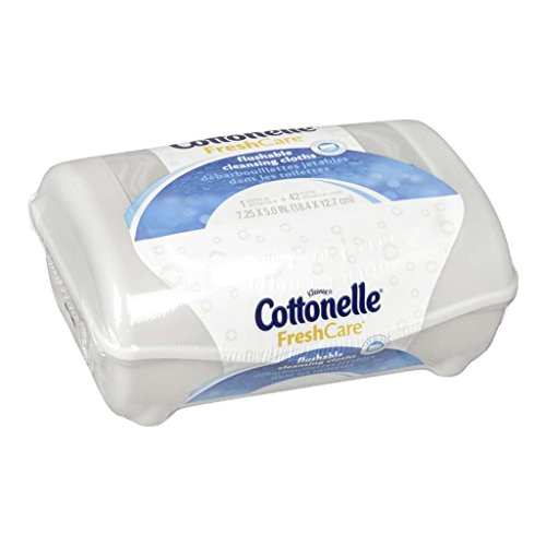 41y%2BFIcVGmL - Cottonelle FreshCare Flushable Wipes, 42 Rely, (Pack of eight)