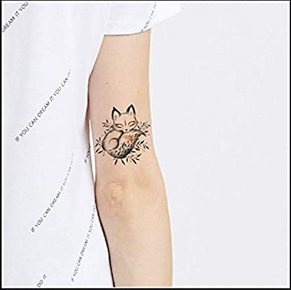 Etiqueta Engomada Del Tatuaje Temporal Pintado A Mano Monocromo ...