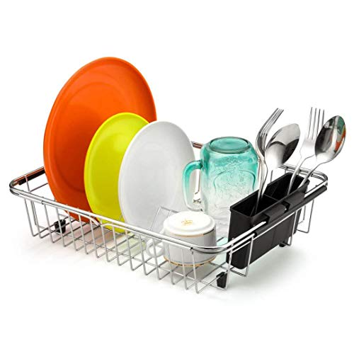 iPEGTOP Dish Drying Rack In Sink, On Counter, Or Expandable