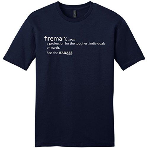 Fireman Firefighter Definition Badass T Shirt