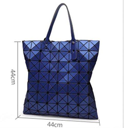 Géométriques à Printemps Sacs Bandoulière été Red Et 8 Sacs Pliage à Sacs Coutures Mat Sacs WLFHM Main 8 qpw1Ztn