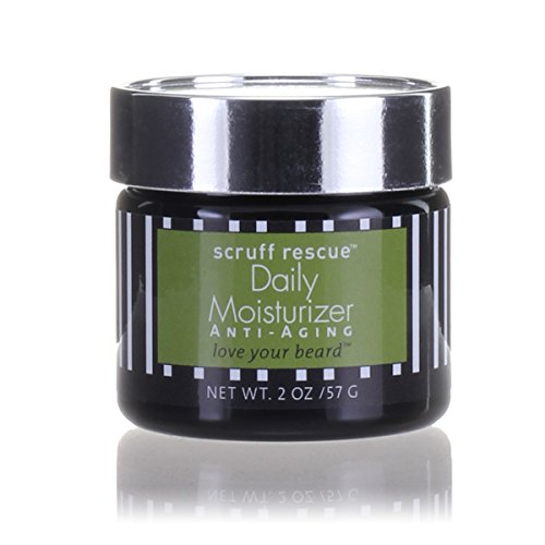 Max Green Alchemy Scruff Rescue Daily Moisturizer Organic Anti Aging Formula Jar (2 oz) - Advanced for Men, Vegan, Non Greasy, Antioxidant Rich, Anti Wrinkle, Concentrated