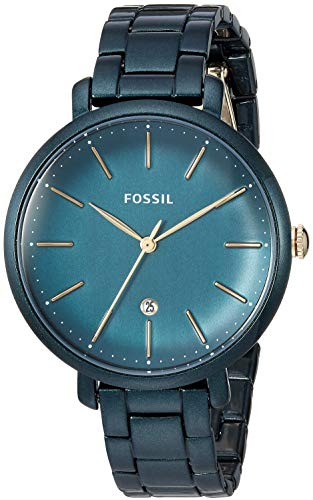 Fossil Women's Jacqueline Quartz Stainless-Steel-Plated Strap, Green, 14 Casual Watch (Model: ES4409)