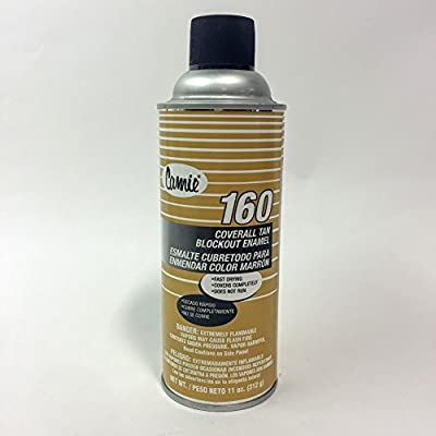 12 Cans Professional Industrial Camie 160 Coverall Tan Blockout Enamel Spray - Reuse Cardboard Boxes - 12 Cans per Case