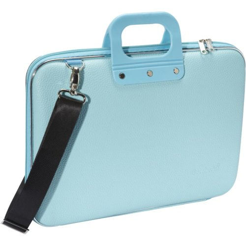 Bombata Classic Laptop Briefcase (Light Blue), Bags Central