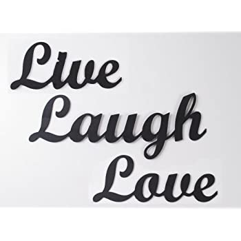 Metal Wall Art Work Live Laugh Love Steel Words Wrought Iron Home Decor Sign Steel
