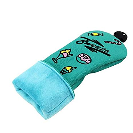 Golf Hybrid Club Head Covers Headcovers Hybrids Rescue Utility UT Clubs Cover Protector with Interchangeable No.Tags for Taylormade Callaway Titleist ...