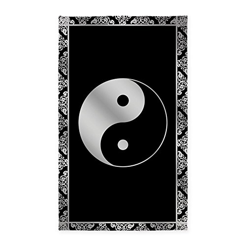 CafePress Silver Symbol Decorative Fabric