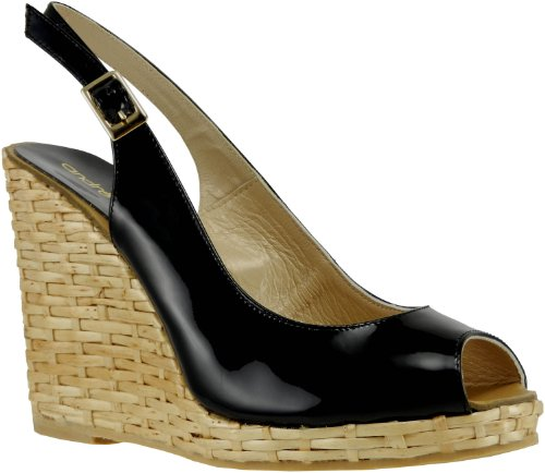 Andre Assous Lucy-2 Womens Wedge Sandal Black Patent mK8RIA